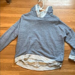Blue/Gray pullover hoodie